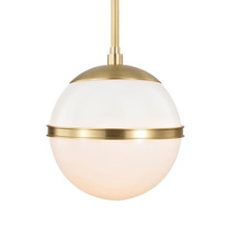 Crystorama 2107-AG - Brian Patrick Flynn for Crystorama Truax 1 Light Aged Brass Mini Chandelier