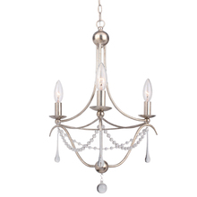 Crystorama 423-SA - Metro 3 Light Antique Silver Mini Chandelier