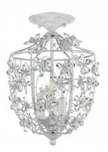 Crystorama 5303-AW_CEILING - Crystorama Paris Market 3 Light Antique White Ceiling Mount