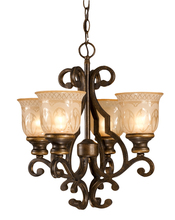 Crystorama 7404-BU - Norwalk 4 Light Bronze Mini Chandelier