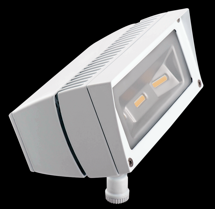 FUTURE FLOOD 18W WARM LED + 277V PC WHITE
