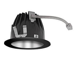 "FINISHING SEC 6"" ROUND 2700K LED 80 DEGREES SPECULAR CONE BLACK RING"
