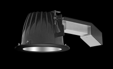 "RAB Lighting RDLED6R20-WYY-M-B - REMODELER 6"" ROUND 20W 2700K DIM TRIAC WALLWASH MATTE CONE BLACK RING"