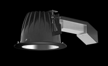 "RAB Lighting RDLED6R20L-50YY-S-B - REMODELER 6"" ROUND 20W 2700K DIM LUTRON 50 DEGREES SPECULAR CONE BLACK RING"