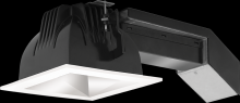 "RAB Lighting RDLED4S12E-50YN-M-W - REMODELER 4"" SQUARE 12W 3500K DIM ELV 50 DEGREES MATTE CONE WHITE RING"