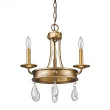 Acclaim Lighting IN11027AG - Krista 3-Light Antique Gold Chandelier With Crystal Accents