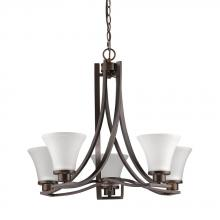 Acclaim Lighting IN11270ORB - Mia 5-Light Oil-Rubbed Bronze Chandelier With Etched Glass Shades