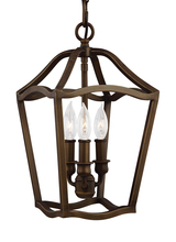 Feiss F2974/3PAGB - 3 - Light Foyer